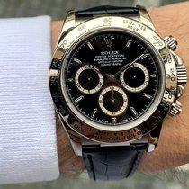 Rolex Daytona Bílé zlato 40mm Černá Bez čísel