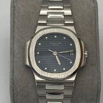 Patek Philippe Platinum Automatic Blue No numerals 37mm pre-owned Nautilus