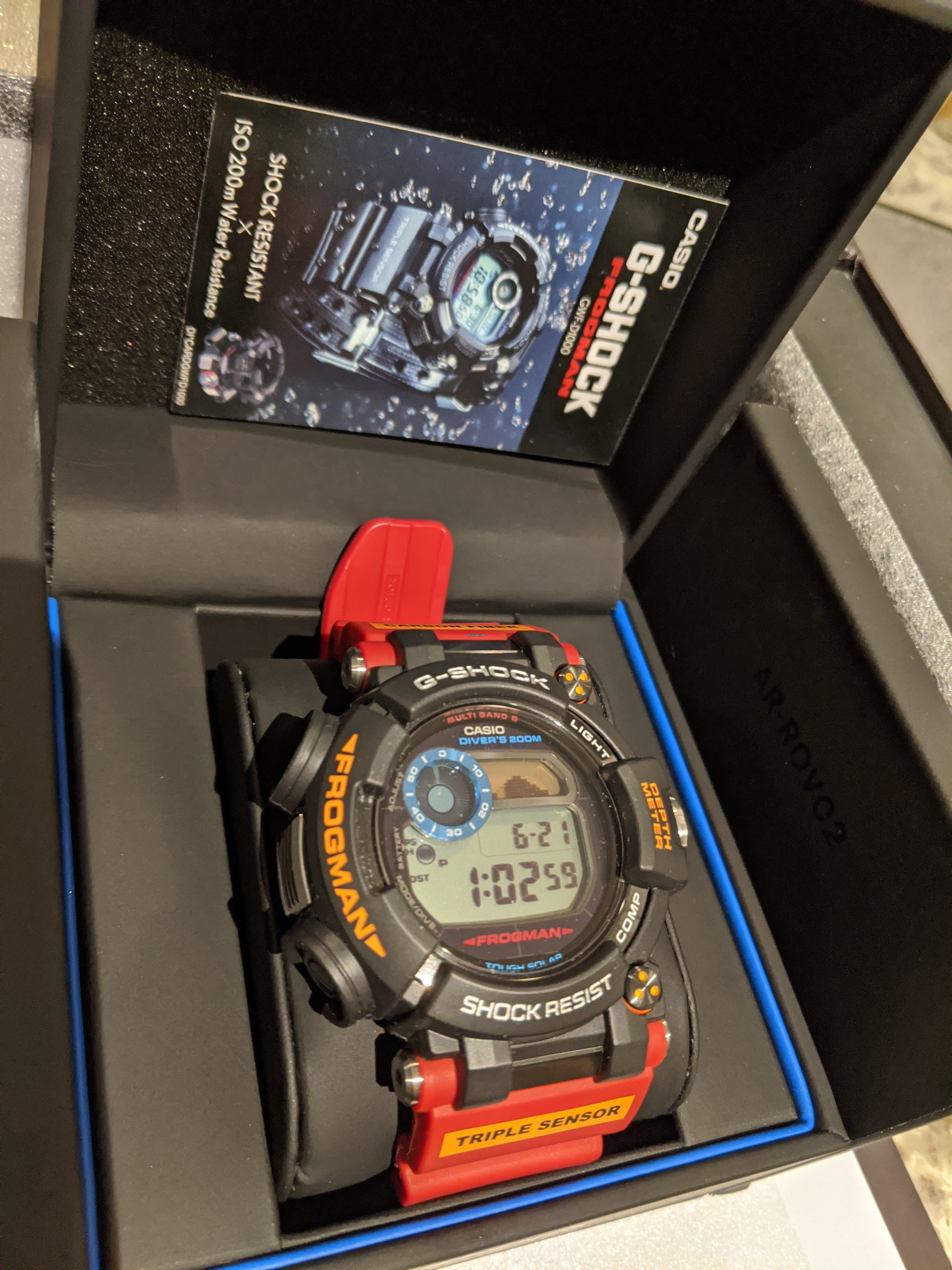 Casio G Shock Frogman Antarctic Research Limited Edition ROV  UKjHO