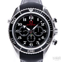 Omega Seamaster Planet Ocean Chronograph Сталь 45mm Черный