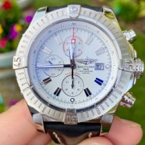Breitling Steel Automatic White No numerals 48mm pre-owned Super Avenger
