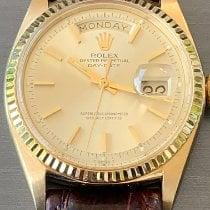 Rolex Day-Date 36 tweedehands 36mm Goud Datum Dagaanduiding Krokodillenleer
