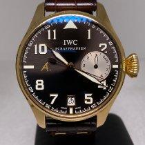 IWC 핑크골드 자동 갈색 아라비아 숫자 46mm 중고시계 빅 파일럿
