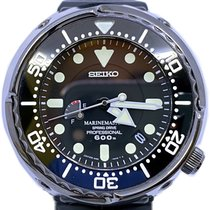 Seiko Marinemaster pre-owned 50mm Black Date Rubber
