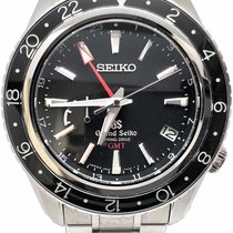 Seiko Steel Black 43.5mm pre-owned Grand Seiko