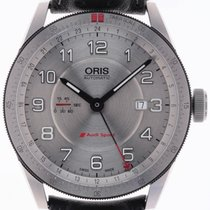 Oris Audi Sport pre-owned 44mm Silver Date Leather
