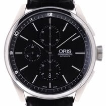 Oris Artix Chronograph pre-owned 44mm Black Chronograph Leather