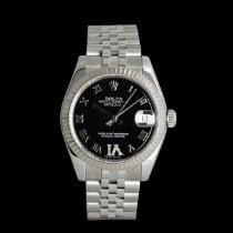 Rolex Lady-Datejust подержанные 31mm Чёрный Дата