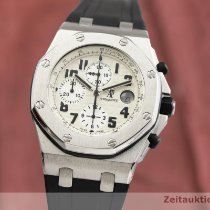 Audemars Piguet Steel Automatic White 43mm pre-owned Royal Oak Offshore Chronograph