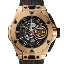 Hublot Big Bang Ferrari Yellow gold 45mm Transparent Arabic numerals