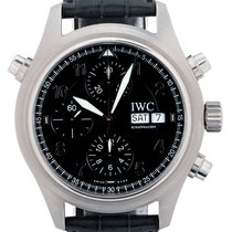 IWC Pilot Double Chronograph IW3713 Very good Steel 42mm Automatic