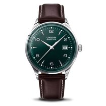 Union Glashütte Noramis Date Steel 40mm Green Arabic numerals