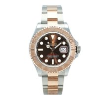 Rolex Yacht-Master Gold/Steel 40mm Brown No numerals South Africa, Paarl
