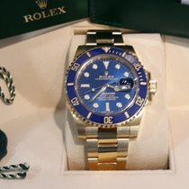 Rolex Submariner Date Oro amarillo 40mm Azul Sin cifras España, Barcelona