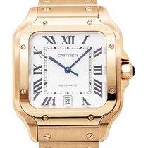 Cartier Santos (submodel) Pозовое золото 40mm Белый