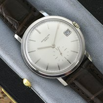 Patek Philippe Calatrava White gold 35mm Silver No numerals