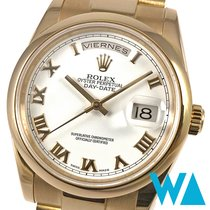 Rolex Day-Date 36 Rose gold 36mm White Roman numerals
