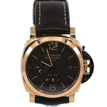 Panerai Luminor 1950 8 Days GMT Rose gold 44mm Brown Arabic numerals United States of America, New York, New York