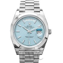 Rolex Day-Date 40 Platino 40mm Azul