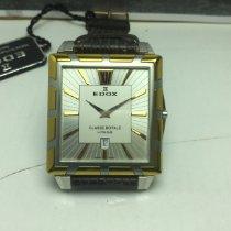 Edox Classe Royale Acero y oro 38mm Plata