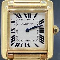 Cartier Tank Française Zuto zlato 25mm Bjel Rimski brojevi