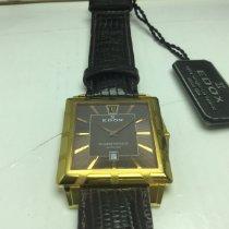 Edox Classe Royale Oro amarillo 38mm Marrón