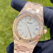 Audemars Piguet Rose gold Automatic White pre-owned Royal Oak Jumbo