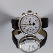 Eberhard & Co. Silver Manual winding White Arabic numerals 38mm pre-owned