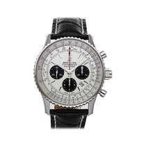Breitling Navitimer Rattrapante Steel 45mm Silver No numerals