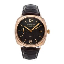 Panerai Radiomir 3 Days GMT Roségold 47mm Braun Arabisch