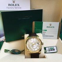 Rolex Or jaune Remontage automatique Argent Romains 42mm occasion Sky-Dweller