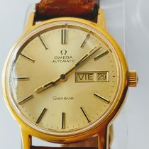 Omega Genève Gold/Steel 34mm Yellow No numerals