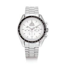 Omega Oro blanco Cronógrafo Plata Speedmaster Professional Moonwatch