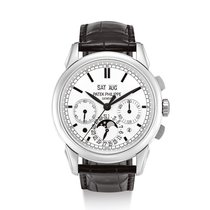 Patek Philippe Perpetual Calendar Chronograph Or blanc Argent