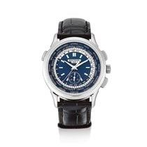 Patek Philippe World Time Chronograph Weißgold Blau