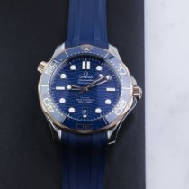 Omega Seamaster Diver 300 M Gold/Steel 42mm Blue No numerals