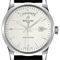 Breitling Transocean Day & Date Steel 43mm Silver United States of America, California, Moorpark