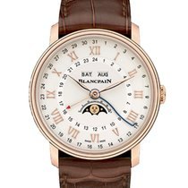 Blancpain Villeret Moonphase Rose gold 40mm Silver Roman numerals