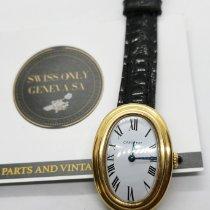 Cartier Baignoire Gelbgold 23mm Weiß Römisch Schweiz, Geneve