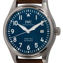 IWC Pilot Mark pre-owned 40mm Blue Date Calf skin