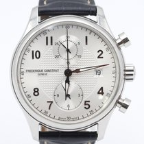 Frederique Constant Runabout Chronograph pre-owned 42mm Grey Date Leather