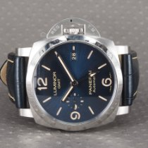 Panerai Luminor 1950 3 Days GMT Automatic Steel 44mm Blue Arabic numerals