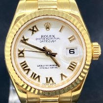 Rolex Lady-Datejust Or jaune 26mm Blanc Romains
