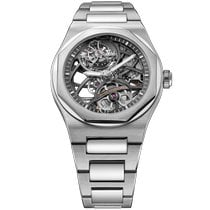 Girard Perregaux White gold Automatic Transparent No numerals 42mm new Laureato