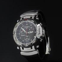 Tissot T-Race rabljen 42mm Crn Kronograf Datum, nadnevak Kaučuk