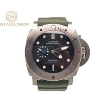 Panerai Luminor Submersible 1950 3 Days Automatic Tytan 47mm Czarny Bez cyfr