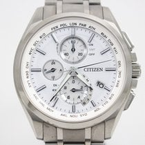 Citizen Promaster Sky pre-owned 40mm White Chronograph Annual calendar Buckle