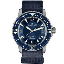 Blancpain Fifty Fathoms Titanium 45mm Blue Arabic numerals United Kingdom, London