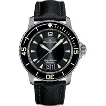Blancpain Fifty Fathoms Titanio 45mm Negro Arábigos