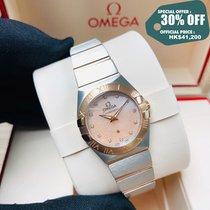 Omega Constellation Quartz Acero y oro 24mm Rosa